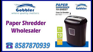 Home Paper Shredders by Gobbler Paper Shredder Machine Wholesaler In India Youtube