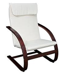 Wooden Recliner Chair Amazon Com Niche Mia Reclining Bentwood Chair Mocha Walnut Beige