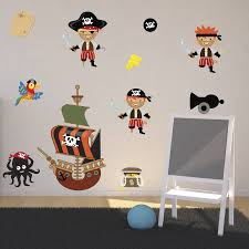 pirates boys wall stickers by mirrorin notonthehighstreet com pirates boys wall stickers