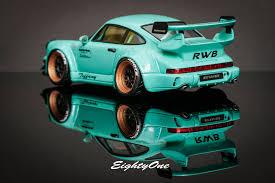 rwb porsche blue rwb tiffany u2013 mint green 964 1 43 model u2013 rauh welt begriff hong