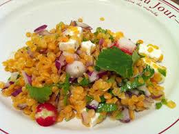 cuisiner les lentilles salade de lentilles corail à la feta envie de cuisiner