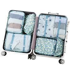 Arxus 6 set packing cubes travel luggage waterproof organizers