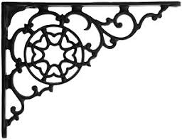 black iron decorative shelf bracket 5 7 8 x 7 7 8 house of