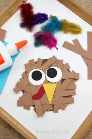 paper turkey craft housing a forest