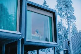 finland northern lights hotel sleep in the arctic treehouse under the northern lights find elly