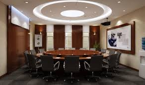 elegant conference room with round table 3d model dwg