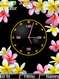 theme clock flower clock theme nokia theme mobile toones