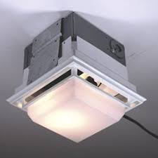 nutone ceiling wall ductless exhaust fan light model 682lnt