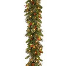 national tree 9 foot by 12 inch wintry pine garland
