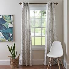 Grey And White Curtain Panels Gray Avalon Curtain Panel Set 84 In Kirklands