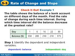 How To Find The Rate Of Change In A Table Chapter 5 Rate Of Change And Slopes