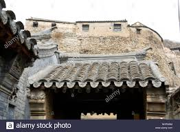 roof tiles of front gate in a traditional style house chuandixia