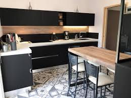 cuisine noir cuisine fenix noir sans poignée à couffé
