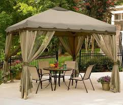 Outdoor Gazebo With Curtains by Awesome Gazebo Canopy Decors With Transparent Curtains Set As Well