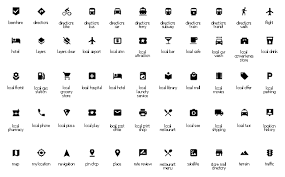design elements android system icons maps design elements