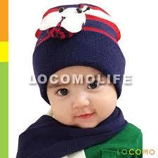 baby infant boy bee beanie hat cap scarf warm navy fba001s03