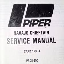 piper navajo chieftain pa 31 350 service manual ebay