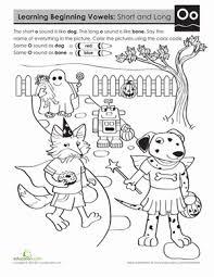 learning beginning vowels o worksheet education com