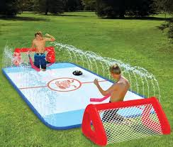 Kids Backyard Fun Backyard Sports Water Soaked Knee Hockey Rink I May Be An
