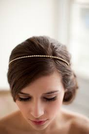 shiny gold headband bridal hair accessories wedding party metal