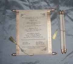 scroll invitation rods the at conifer boxed scroll wedding invites in faux