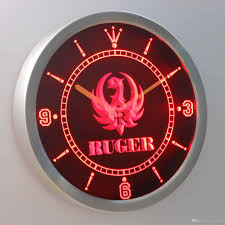 nc0186 ruger firearms luminova neon sign bar beer decor led wall