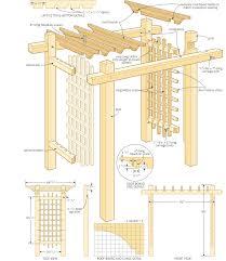 Home Build Plans Buildings Plan Build Garden Gateway Pergola Canadian Home Workshop