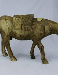 carved wooden animal big walking d9 the wood of peace