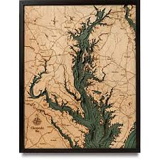 3d nautical wood map great lakes cape cod chesapeake hawaii