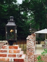 French Quarter Gas Lanterns by Poolside Lighting Gas Lantern By Bevolo Williamsburg Column