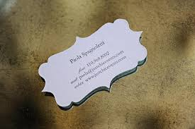 lovely die cut business cards