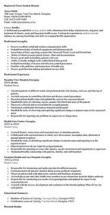Resume Examples For Registered Nurse by Example Student Nurse Resume Free Sample Nursing