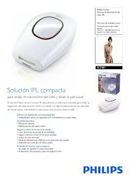 Philips Lumea Comfort Philips Lumea Comfort Sistema De Eliminación De Vello Ipl Manual