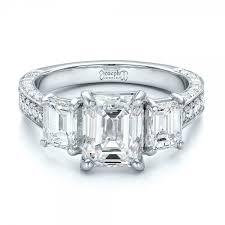 engagement rings emerald cut custom emerald cut diamond engagement ring 100723