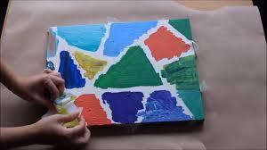 canvas painting geometric home decor youtube