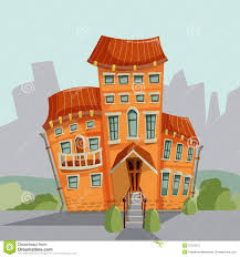 city house facades vector illustration stock vector image