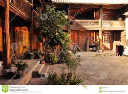 courtyard home traditional house courtyard royalty free stock photo