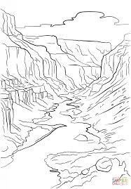 canyon clipart black and white pencil and in color canyon