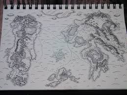 How To Draw A World Map Hand Drawn Map Of My Dnd World Worldbuilding
