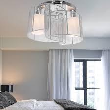 Nickel Ceiling Light Bedroom Hanging Ceiling Lights Low Profile Ceiling Light Brushed
