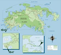 St John Map St John Usvi Island Tourism