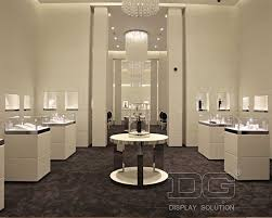 Interior Design Display Cabinet Je34 Led Lighted White Jewellery Shop Display Cabinets Guangzhou