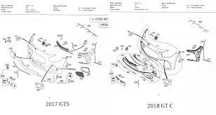 2018 vs 2017 front bumper parts diagram obtained mbworld org forums