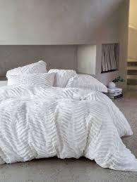 drift white quilt cover set modern chenille contemporary bedding