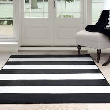Area Rugs White Lavish Home Breton Stripe Area Rug 5 By 7 7 Black