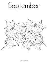 September Coloring Page Twisty Noodle Coloring Pages For September