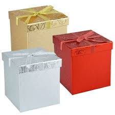 gift boxes bulk voila embossed foil covered gift boxes 4 25 in at