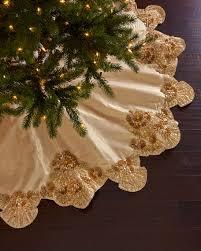 brown christmas tree skirt seybert trevi christmas tree skirt