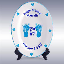 birth plates personalized boys personalized 11 porcelain oval birth plates foot prints in