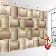 shinehome 3d brick wood pattern check wallpapers mural rolls 3 d